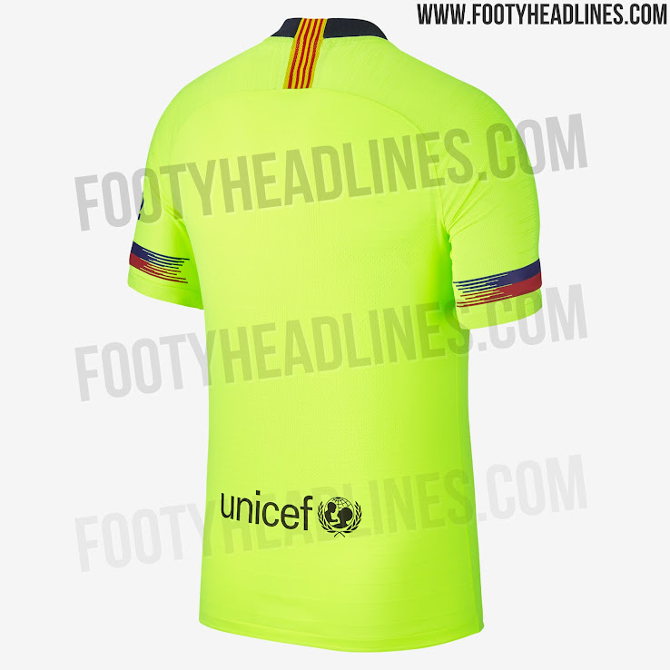 hot sale online 0aa80 c2fd0 FC Barcelona 18-19 Away Kit Released - Footy Headlines