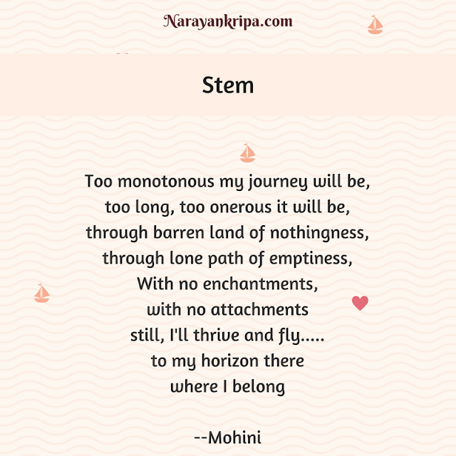 Text image for April Poetry Month Day 24 Poem: Stem