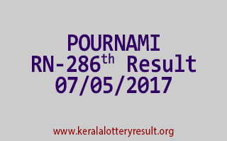 POURNAMI Lottery RN 286 Results 7-5-2017