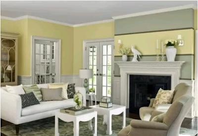 warna cat ruang tamu putih