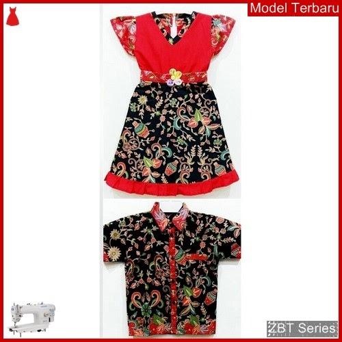 ZBT10309 Kebaya Batik Couple Anak Gardenia Red BMGShop