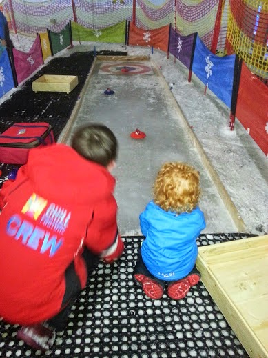 Chill Factore Manchester Trafford Centre Snow Play 4 year old curling