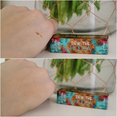 Glossybox Mai - Love, Peace &Beauty | www.josieslittlewonderland.de - unboxing, beauty, benefit dew the hoola bronzer, swatch