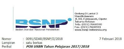 Pengantar POS USBN Tahun 2018