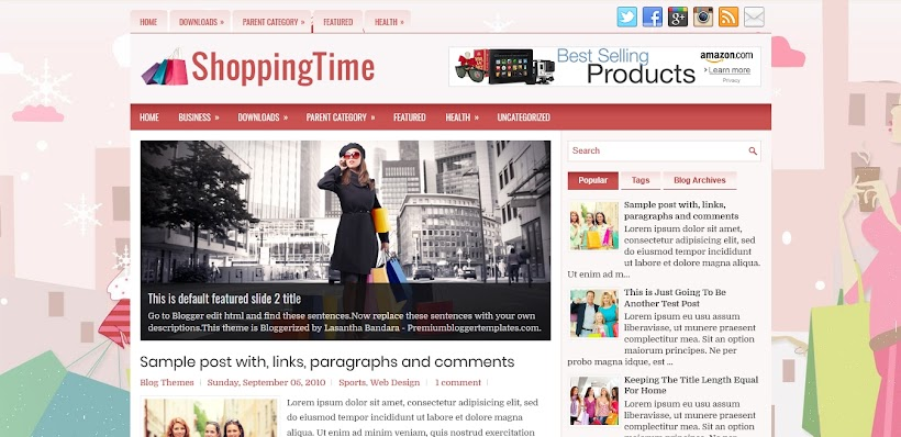 ShoppingTime Free Blogger Template