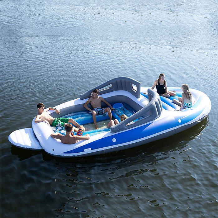 This Life-Size Inflatable Speedboat From Amazon Will Make You Feel Like A Millionaire