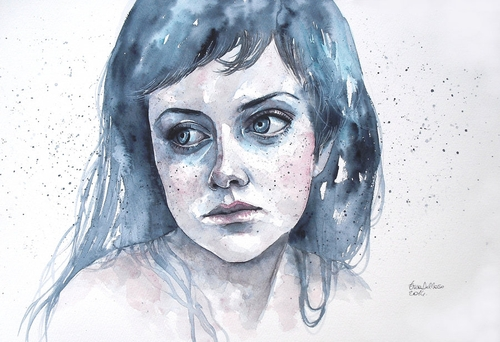 13-Melancholia-Erica-Dal-Maso-Expressing-Emotions-Through-Watercolor-Paintings-www-designstack-co