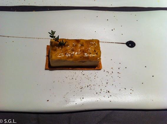 Foie micuit con manzana a la vainilla del restaurante Osmosis en Barcelona