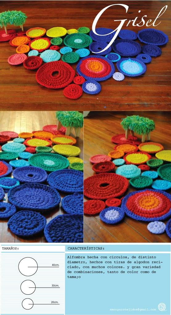 Amor puro tejidos reciclados alfombra mantas - Alfombras finas pasillo ...