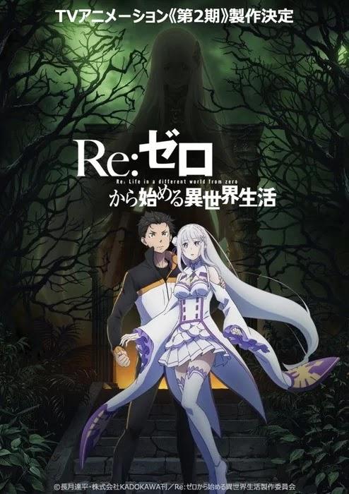 segunda temporada para RE:ZERO