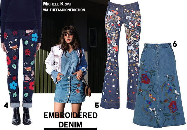 Embroidered Denim Jeans Blogger Michele Krusi Trend Fall 2016
