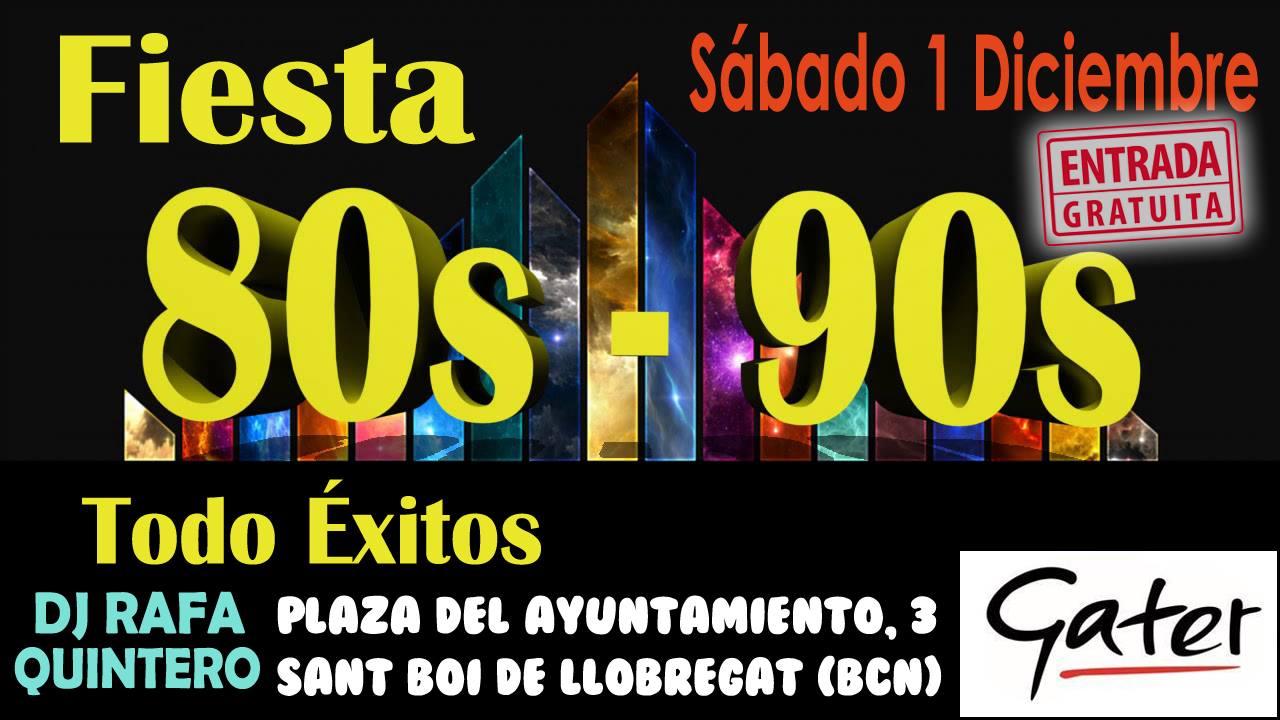 Flyer Fiesta 80s 90s Todo Éxitos