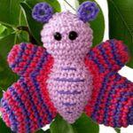 patron gratis mariposa amigurumi, free amigurumi pattern butterfly