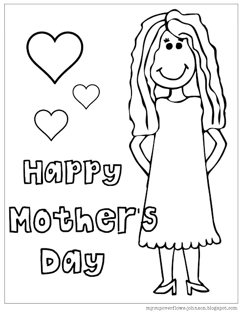 free mother's day coloring pages and worksheets for kids