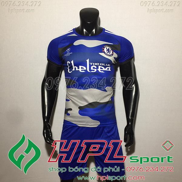 Áo bóng đá câu lạc bộ Chelsea xanh training