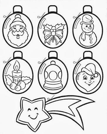 Imagenes Bolas De Navidad Para Colorear.Aprender Es Divertido Bolas De Navidad Para Recortar Y Colorear