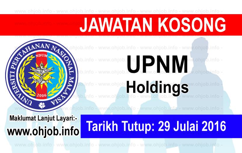 Jawatan Kerja Kosong UPNM Holdings logo www.ohjob.info julai 2016