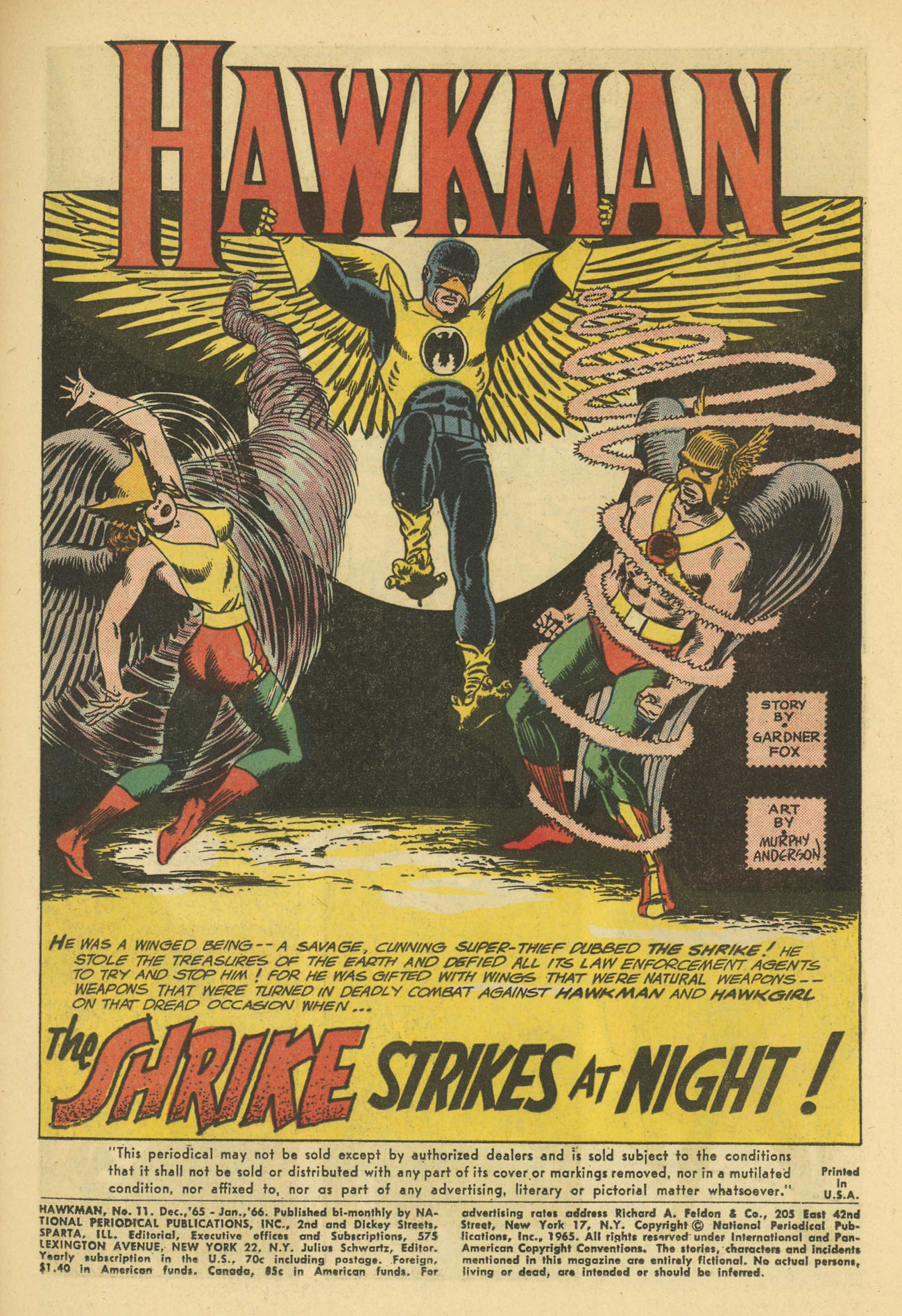 Hawkman (1964) issue 11 - Page 3