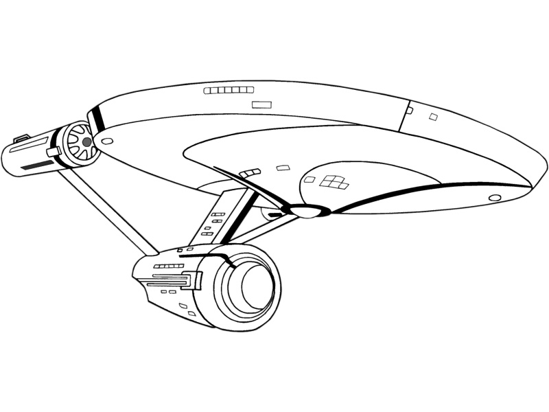 startrek animated printable coloring pictures