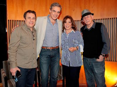 Fernando Pelegio, Dalton Vigh, Iris Abravanel e Reynaldo Boury - Crédito: Lourival Ribeiro/SBT