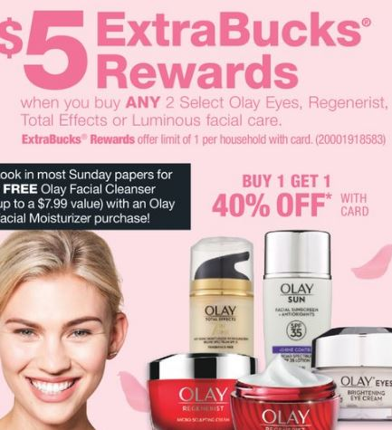FREE Olay Moisturizer & Whip Cleanser at CVS - 5/5-5/11