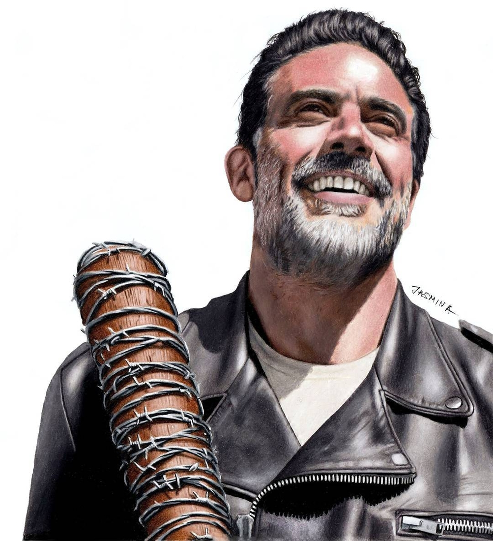 07-Jeffrey-Dean-Morgan-as-Negan-Jasmina-Susak-Superheroes-and-Villains-in-2d-and-3d-Drawings-www-designstack-co
