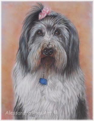 painted dog portrait, dog memorial