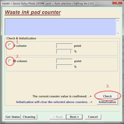 waste ink pad counter option