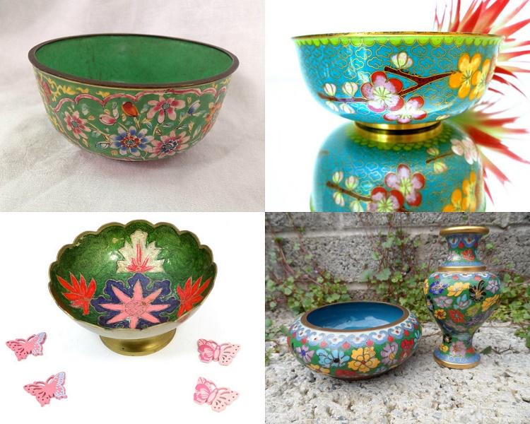 Vintage Cloisonne Bowls