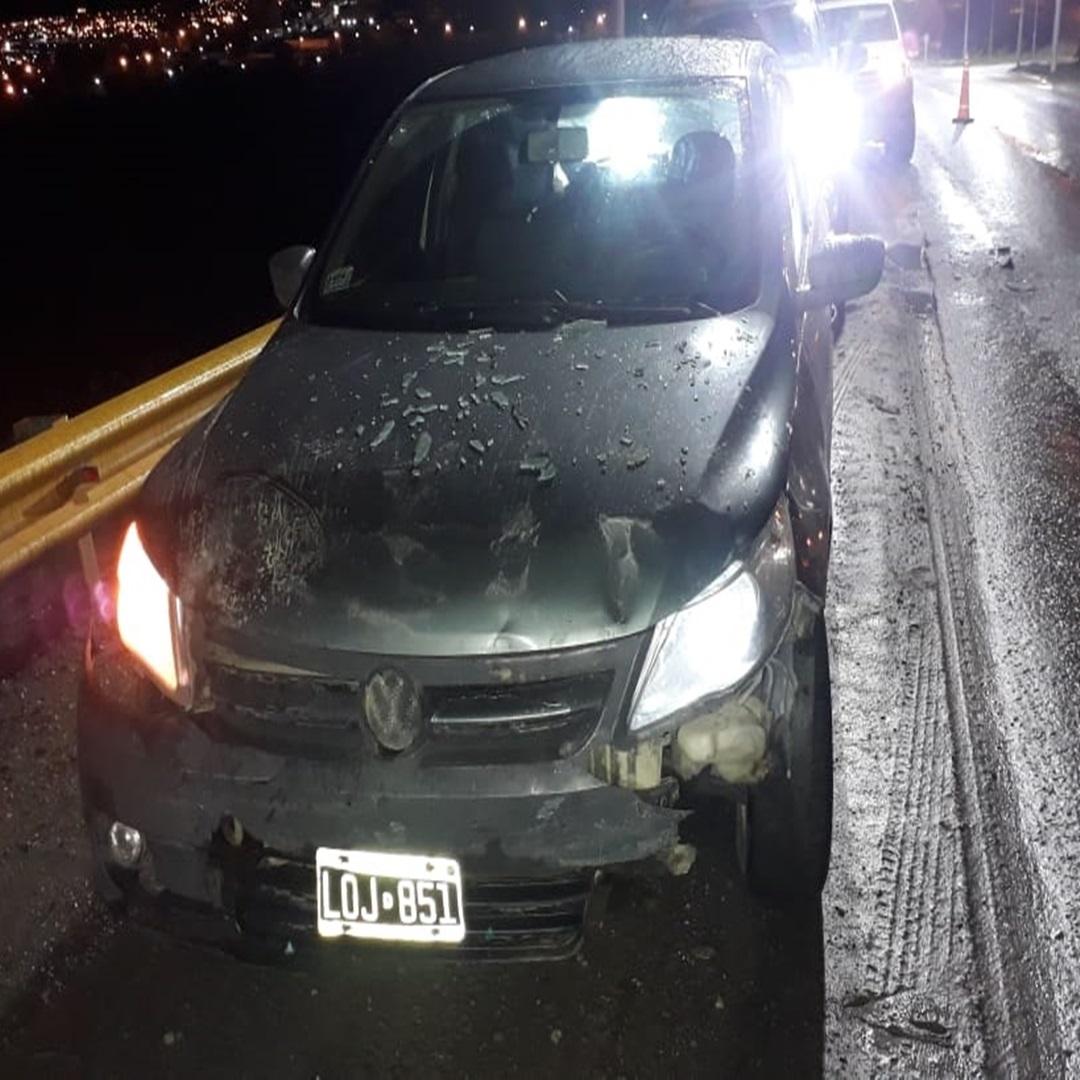 Choque lesionado y vehiculo incautado