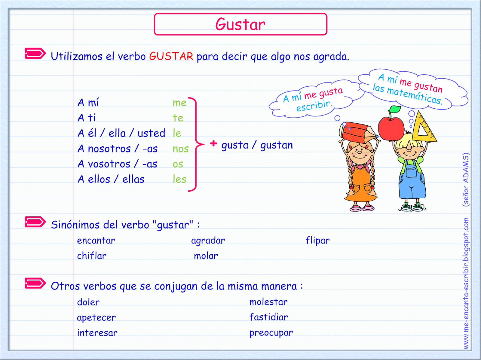 Gustar Verb Practice Answers
