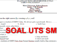 Download Soal UTS kelas 7 SMP/MTS Semester 1 Semua Mapel