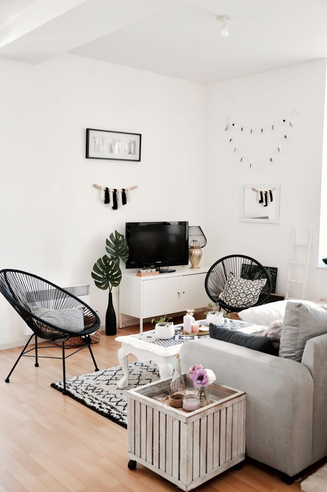 Décoration intérieure : salon avant/après