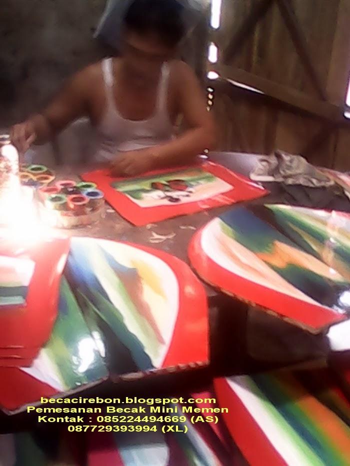 beca cirebon becak mini memen di palembang jambi pekanbaru