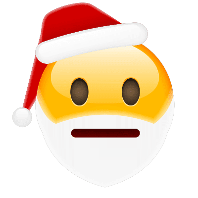 Indifferent Santa Emoji