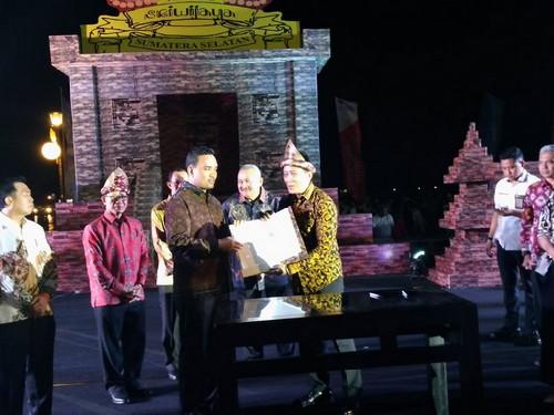 Wabup Muba Hadiri Festival Sriwijaya Ke-XXVI Tahun 2017