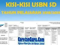 Kisi-kisi USBN SD Tahun 2019 Tahun Pelajaran 2018/2019