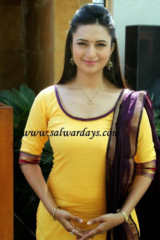 Indian Salwars and Indian Fashion: divyanka tripathi in ...