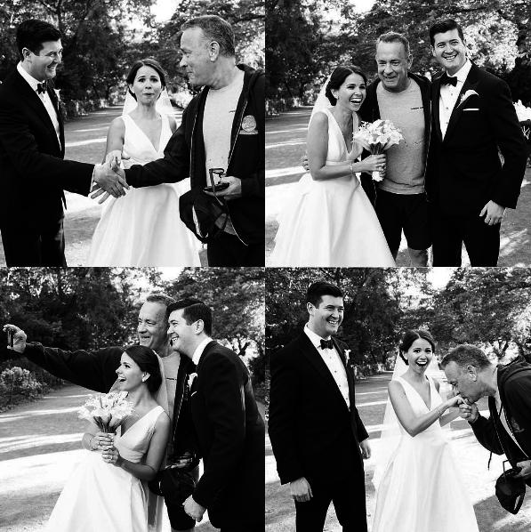 Tom Hanks sorprende a una pareja de boda en mitad de sesión de fotos del Central Park