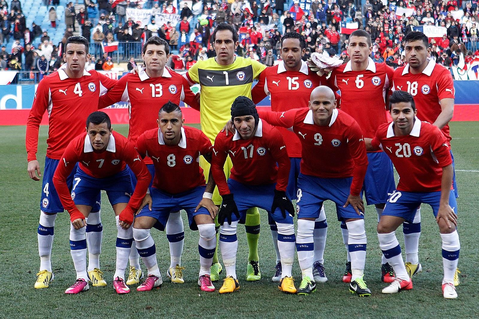 Formación de Chile ante Egipto, amistoso disputado el 6 de febrero de 2013