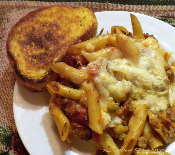 Pam S Midwest Kitchen Korner Cheesy Baked Mostaccioli