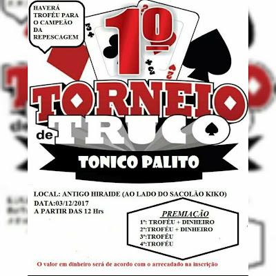1º Torneio de Truco Tonico Palito em Sete Barras