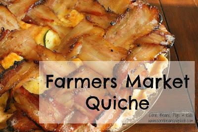 Farmers Market Quiche #AEdairy #sponsored