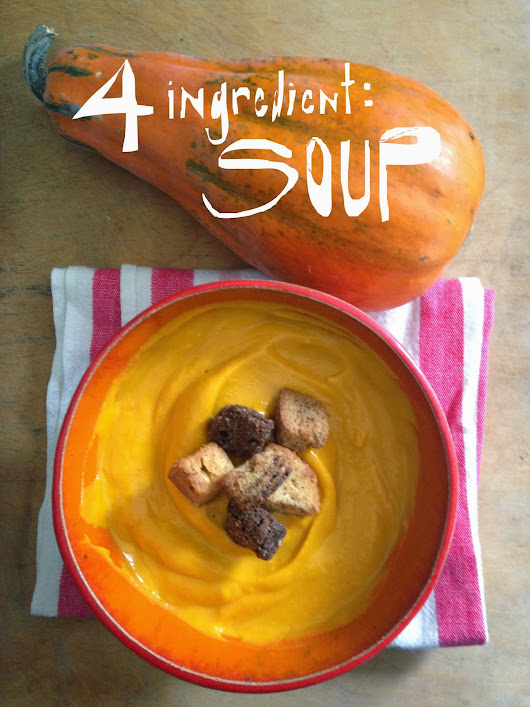 Simple, Four Ingredient, Buttercup Squash Soup Recipe