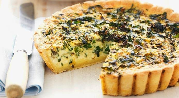 Garlic Tart with Cream Cheese and Spinach Recipe