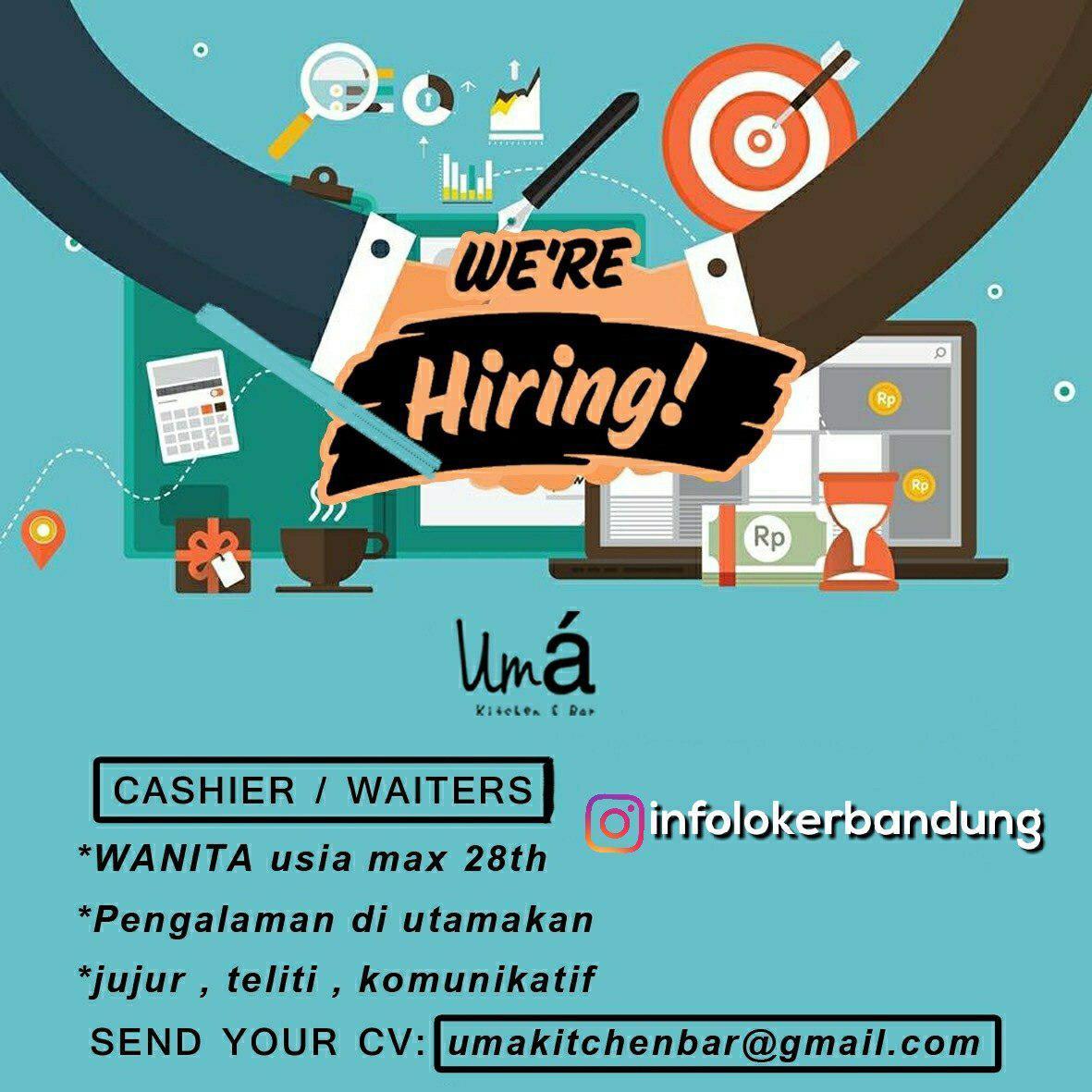 Lowongan Kerja Uma Kitchen & Bar Bandung Oktober 2018