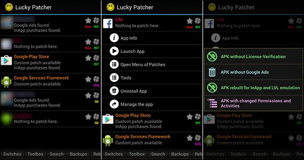 تطبيق Lucky Patcher