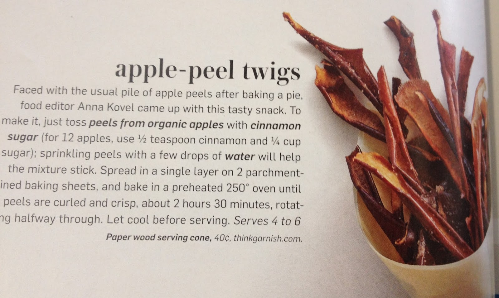 Apple-Peel Twigs Recipe — Dishmaps