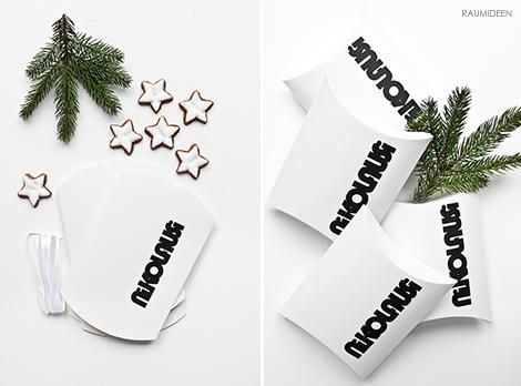 Nikolausverpackungen zum Selbermachen - Kissenschachtel mit Druckvoralge!