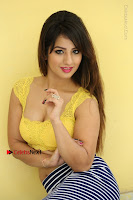 Cute Telugu Actress Shunaya Solanki High Definition Spicy Pos in Yellow Top and Skirt  0219.JPG